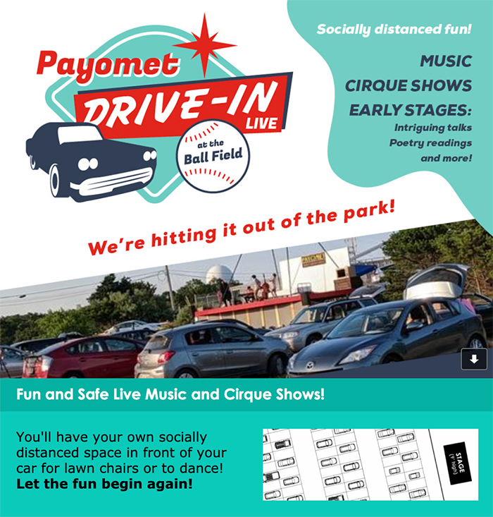 Payomet Drive-in Live at the Ball Field