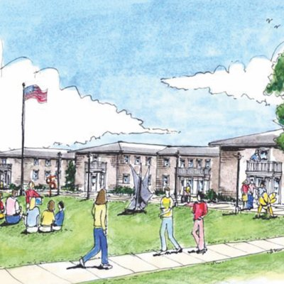 Highland Center grand plan drawing
