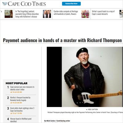 Cape Cod Times - Richard Thompson at Payomet