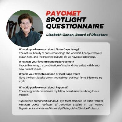 Lizabeth Cohen: Payomet Spotlight Questionnaire