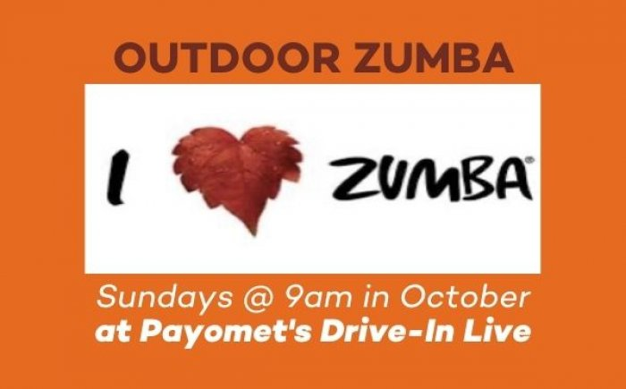 Outdoor Zumba at Payomet's Drive-In Live